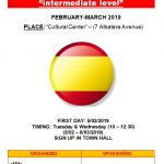 Spanish Lessons For Foreign People February-March 2019