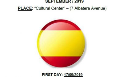 Spanish Lessons For Foreign People: «Elementary level», September 2019 (Cultural Center)